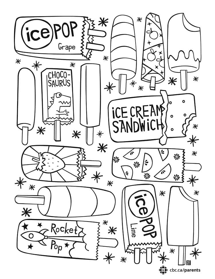 Ice Pop Colouring Printable: Take a Break and Colour Together ...