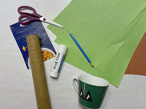 everything you'll need to make paper palm tree