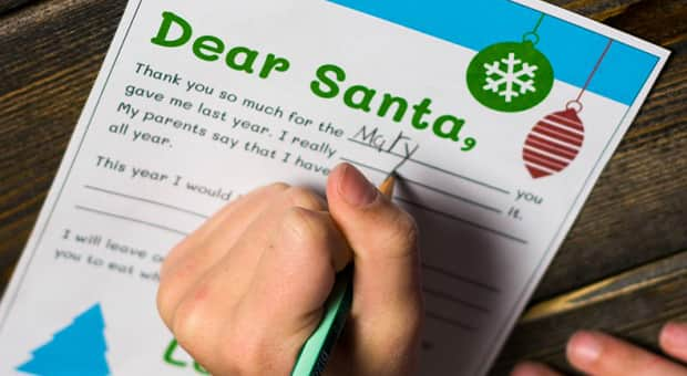 Adorable Downloadable Template Printable Letters To Santa Play