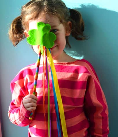 A girl and her shamrock wand.