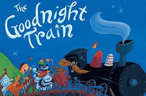 Book cover: The Goodnight Train by June Sobel, illustrated by Laura Huliska-Beith