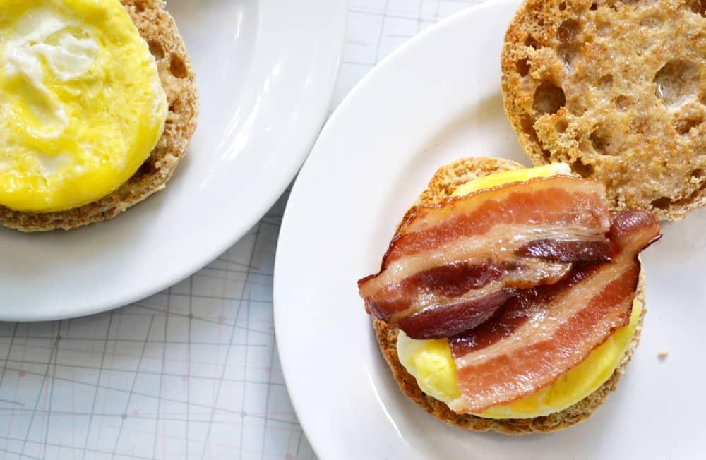 A breakfast sandwich makes an excellent lunch.