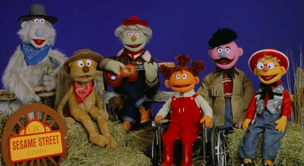 An image of the cast from Canadian Sesame Street