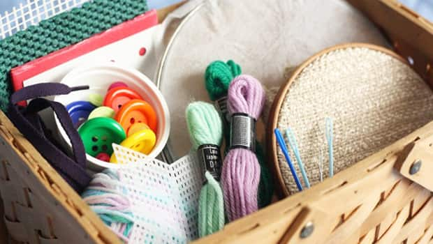 A sewing basket