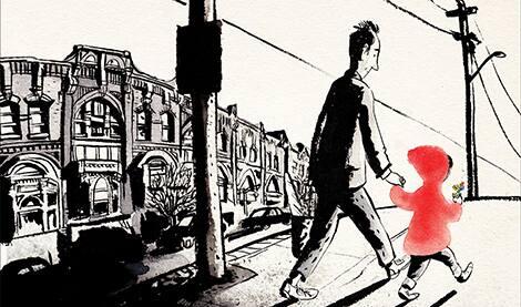 Book cover: Sidewalk Flowers (JonArno Lawson and Sydney Smith)