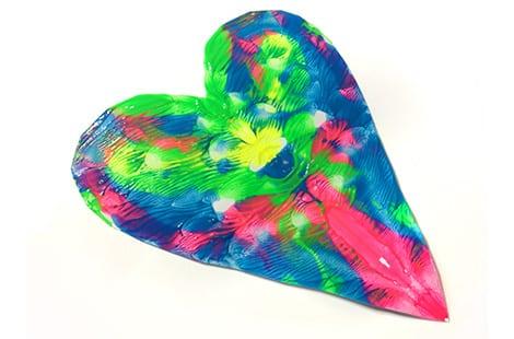 A colourful roschach heart