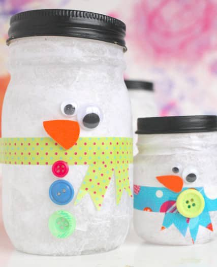 Snowman Luminaries: Easy Craft | Play | CBC Parents