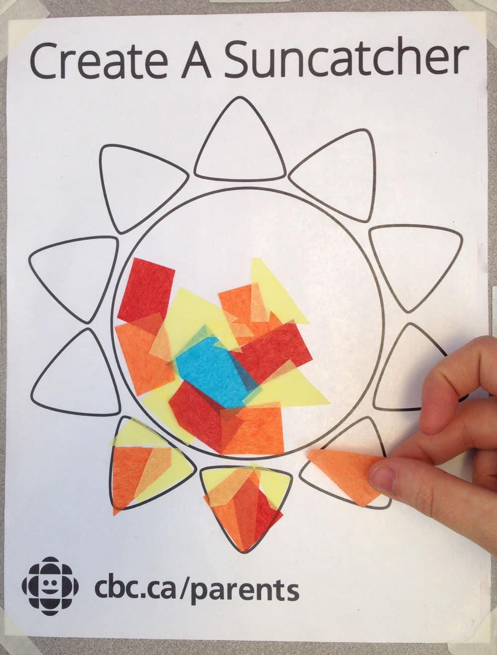 Easy Contact Paper Sun Suncatcher Play Cbc Parents