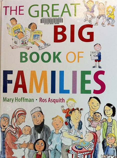 Book cover: The Great Big Book of Families  by Mary Hoffman & illustrated by Roz Asquith