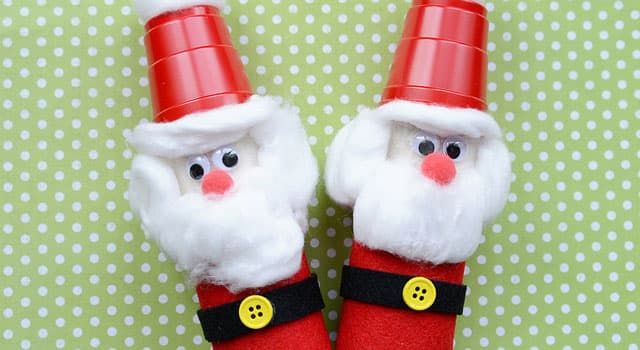 Cute Christmas Ideas For Kids.Cute Christmas Craft For Kids Toilet Paper Roll Santas