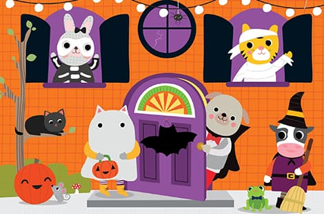 Book cover: Little Friends - Trick or Treat: A lift-the-flap, by Roger Priddy