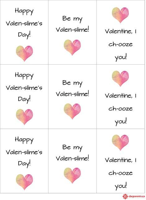 Happy Valentine's card cut-outs.