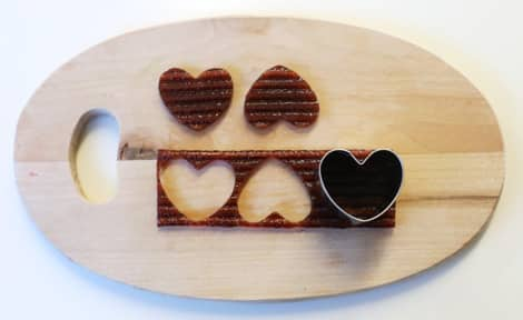 Fruit-leather hearts.