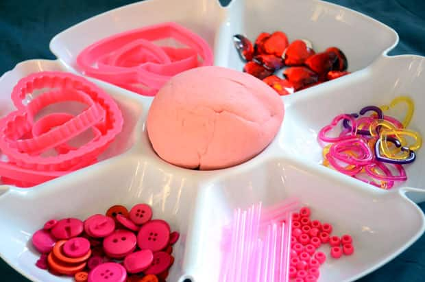 sensory play idea: valentine's day play dough and mirrors | play, Ideas