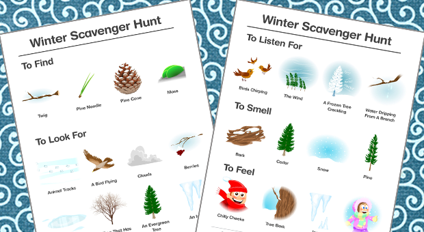 printable winter scavenger hunt