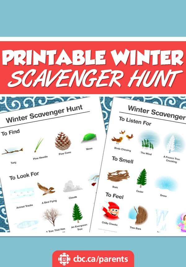 Printable Winter Scavenger Hunt Play Cbc Parents