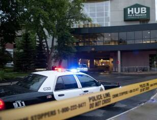 U of A shooting: Police cruiser
