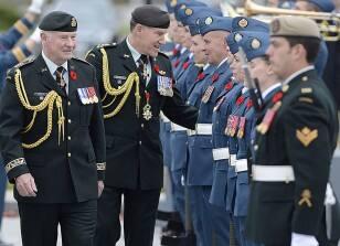 Honour guard inspection