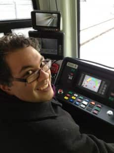 Nenshi behind the wheel