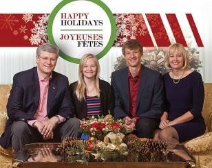 Prime MInister Stephen Harper and family