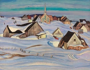 A.Y. Jackson's A Quebec Village / Winter, St-Fidèle