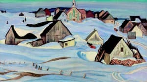 A.Y. Jackson, A Quebec Village (Winter, Saint-Fidèle)