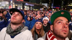 An estimated 15 thousand spectators gathered outside the Air Canada Centre