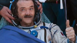 Canadian space ambassador Chris Hadfield returned to Earth