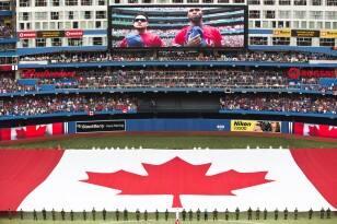 Blue Jays, dome, flag