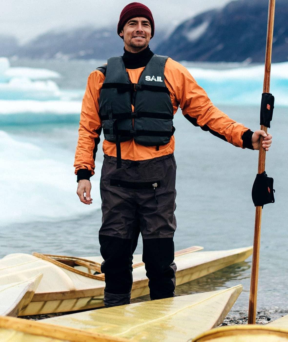 The kayak is the classroom — the polar circle is the teacher