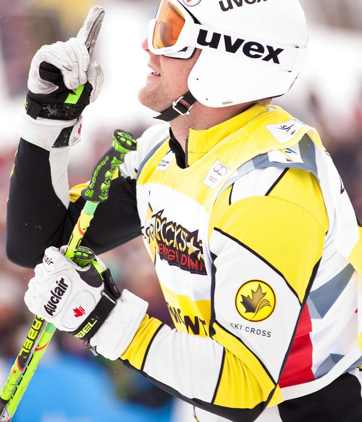 Canadian ski cross racer Brady Leman makes his own damn luck
