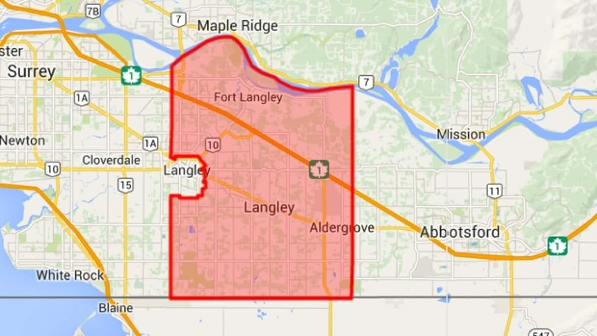 Langley Bc Map Langley civic election focused on growth and planning | CBC News Langley Bc Map