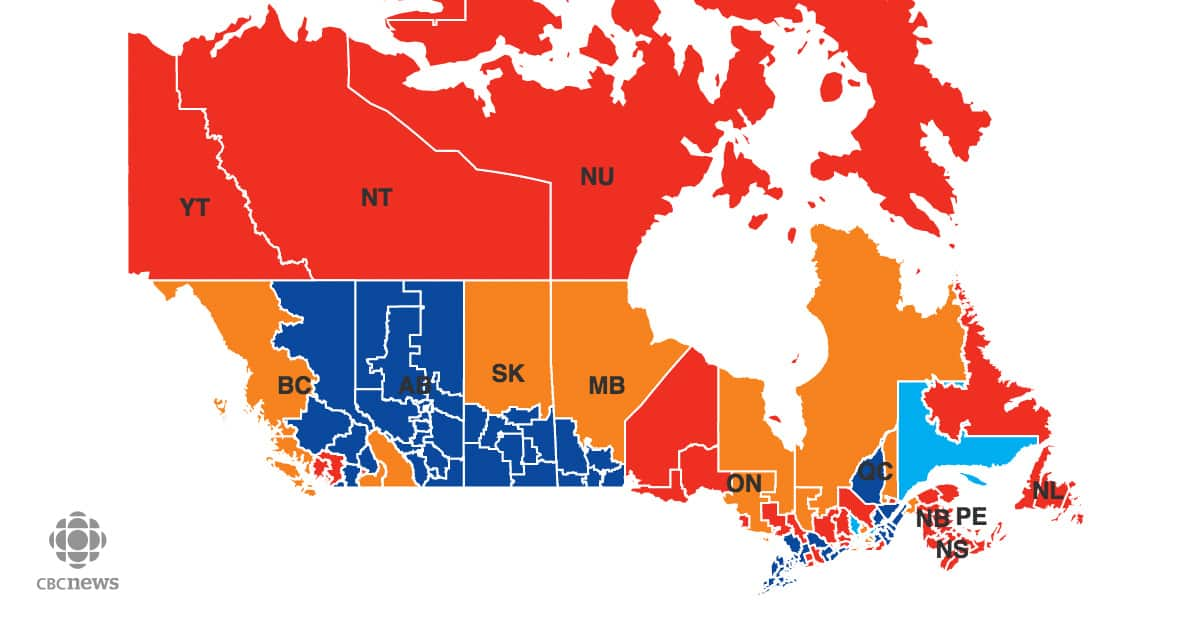 Canada Elections Map 2015 2015 Federal Election Results