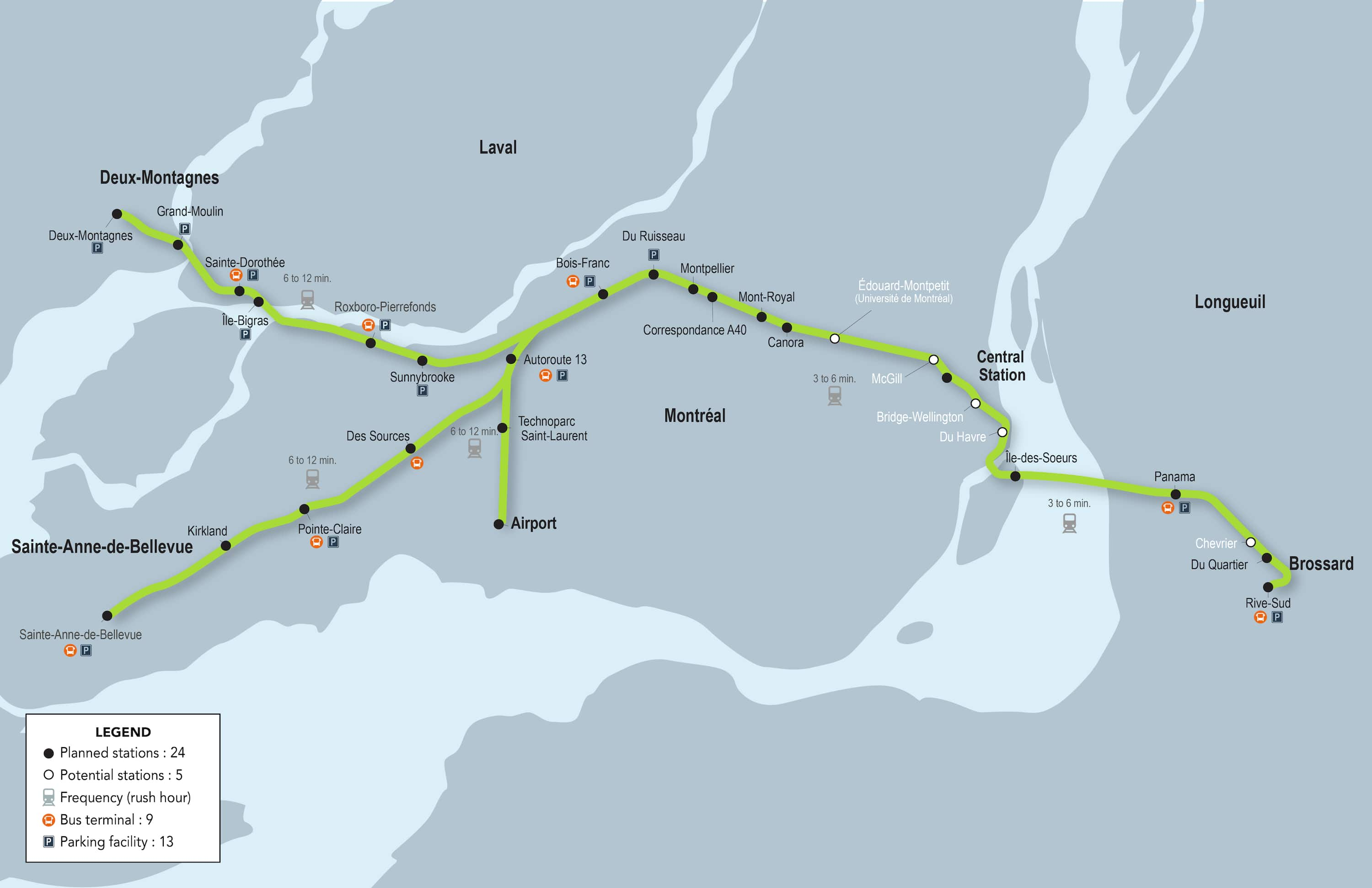Where would Montreals 24 new light rail stations be located CBC News