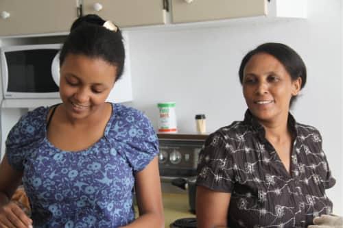 Aaron Berhane's daughter and wife.jpg