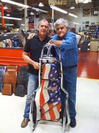 Érik Sieb with Jay Leno and the BodyGuard at Leno's secret garage (credit: Creepex.com)