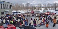 Prayer circle in Maniwaki for the Journey of Nishiyuu (photo: Jessica Rubinger)