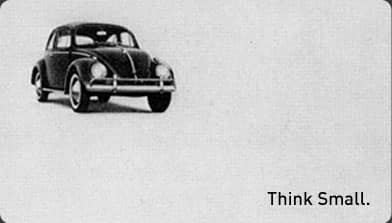 From the classic Volkswagon Campaign