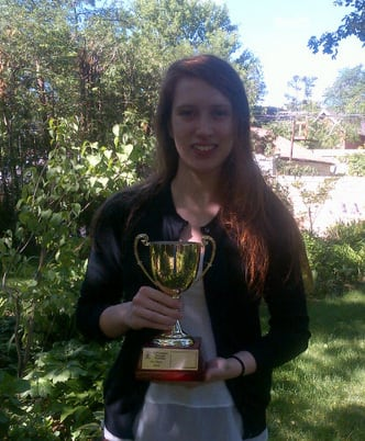 Neria Aylward with Brain Bee Trophy.jpg