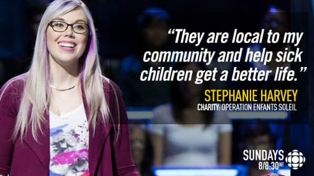 Stephanie Harvey donates $20,000 to Opération Enfant Soleil