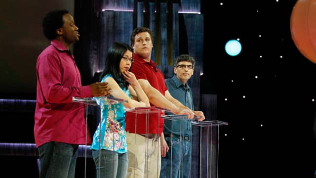 Greg Franklin with 2012 Canada's Smartest Person Finalists