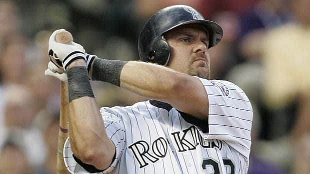 Three-time batting champion and 1997 NL MVP Larry Walker boasted a lifetime on-base-plus slugging percentage of .965, which is higher than 45 of the 64 outfielders currently in the Hall of Fame including Reggie Jackson and Dave Winfield. (Brian Bahr/Getty Images)