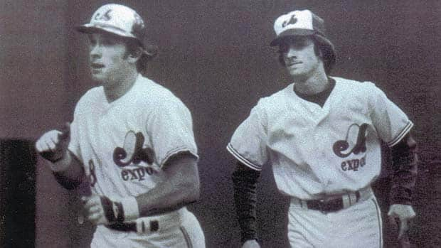 In 1975, one-time Montreal Expos bat boy Daniel Plamondon, right, and former catcher Gary Carter, left, formed a brotherly bond. Carter would assist Plamondon with his homework, while the francophone teen would help Carter hone his French. (Courtesy Daniel Plamondon)