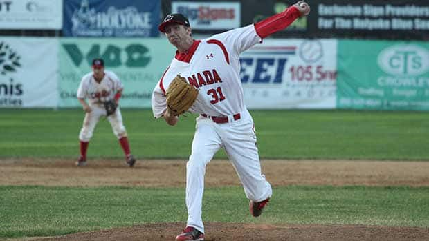 Kurtis Horne threw three innings giving up three hits, two earned runs, four Ks and a walk at the inaugural Tournament 12. (Photo courtesy Baseball Canada)