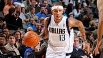 Delonte West of the Dallas Mavericks dribbles against the Phoenix Suns during their game last Wednesday. (Glenn James/NBAE/Getty Images)