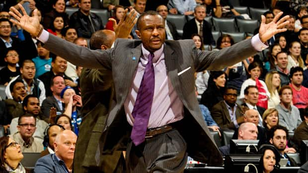 Toronto Raptors head coach Dwane Casey reacts during a game against the Charlotte Bobcats on April 3. Blogger John Chick writes that Raptors players are buying into Casey's