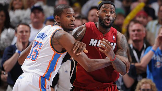 CBC Sports basketball blogger John Chick predicts the Heat and Thunder meet in the NBA Finals. (Garrett W. Ellwood/Getty Images)