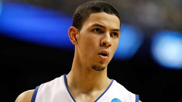Duke University Blue Devils guard Austin Rivers would be a valid selection for the Toronto Raptors, writes basketball blogger John Chick. (Streeter Lecka/Getty Images)