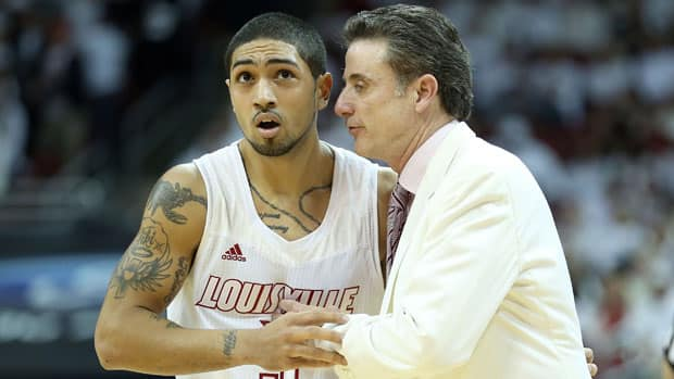 With point guard Peyton Siva, left, and veteran coach Rick Pitino at the helm, top overall seed Louisville is poised for a deep tournament run. (Andy Lyons/Getty Images)