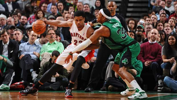 Rudy Gay (22) is not yet considered a superstar, but he promises to be a significant player for the Raptors moving forward. (Brian Babineau/Getty Images)
